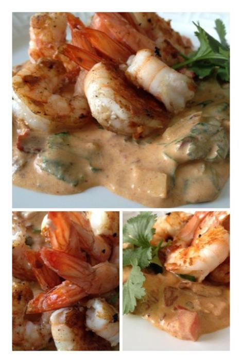 Shrimp over a Creamy Chipotle Sauce